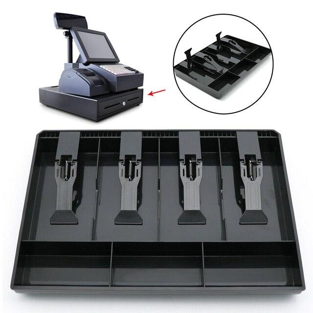 ABS 4 grilles hôtel | Classement organisateur, caisse, boîte tiroir, supermarché rangement de remplacement, plateau caisse caisse argent avec Clip 1