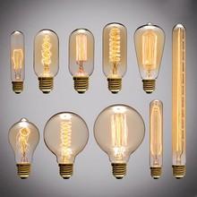 Vintage Edison ampoules E27 ampoules à incandescence ST64 G80 ampoule à Filament écureuil-cage carbone ampoule rétro Edison lumière pour suspension