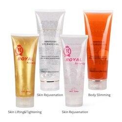 Gel ultra-sônico rf & ems massageador cavitação corpo emagrecimento pele facial endurecimento levantamento apertar anti rugas injeção gel creme