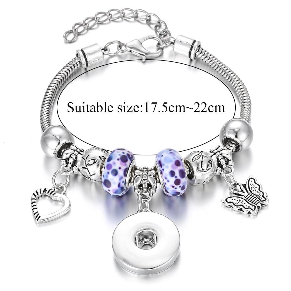 New Snap Bracelets for Women Tree of Life Metal Snap Button Bracelet Bangle Fit 18MM Snap Jewelry Bracelets Beads Making Jewelry 2