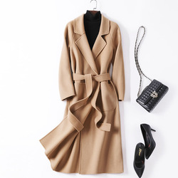 2020 casaco de lã feminino outono high street turn-down colarinho manga longa outwear preto desigual camelo feminino longo cashmere casacos