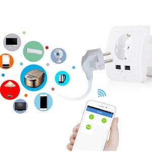 Image 5 - AVATTO Smart USB Wall Socket 16A EU Wifi Power Plug Works With Google Home Alexa IFTTT Tuya Smart life APP Voice Remote Control
