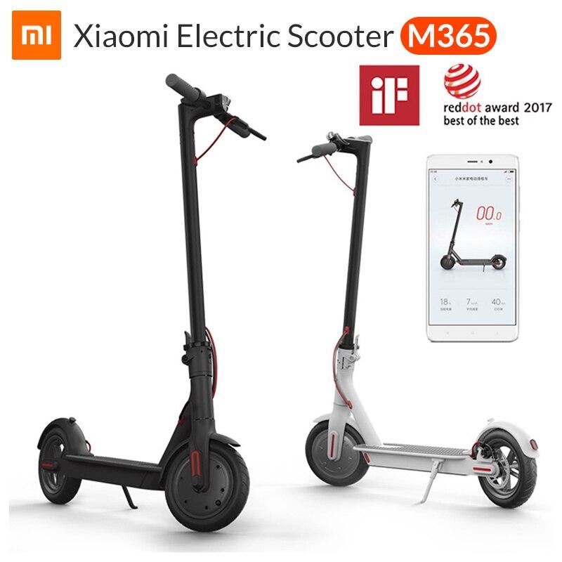 Xiao mi m365 mi scooter elétrico mi jia inteligente e scooter skate mi ni dobrável hoverboard patinete elétrico adulto 30km bateria