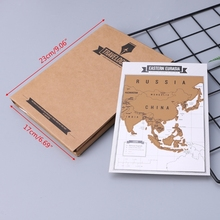 Journal Diary Notebooks Scratch Map Popular Travel City 8 World Maps Travelogue ezone 8pcs mini scratch map travelogue notebooks traveler journey scratch off world map gift for education school office supply