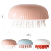 Comb Hair-Wash-Brush Massager Acupoint-Head Meridian Shower Head-Body Relaxing Silicone