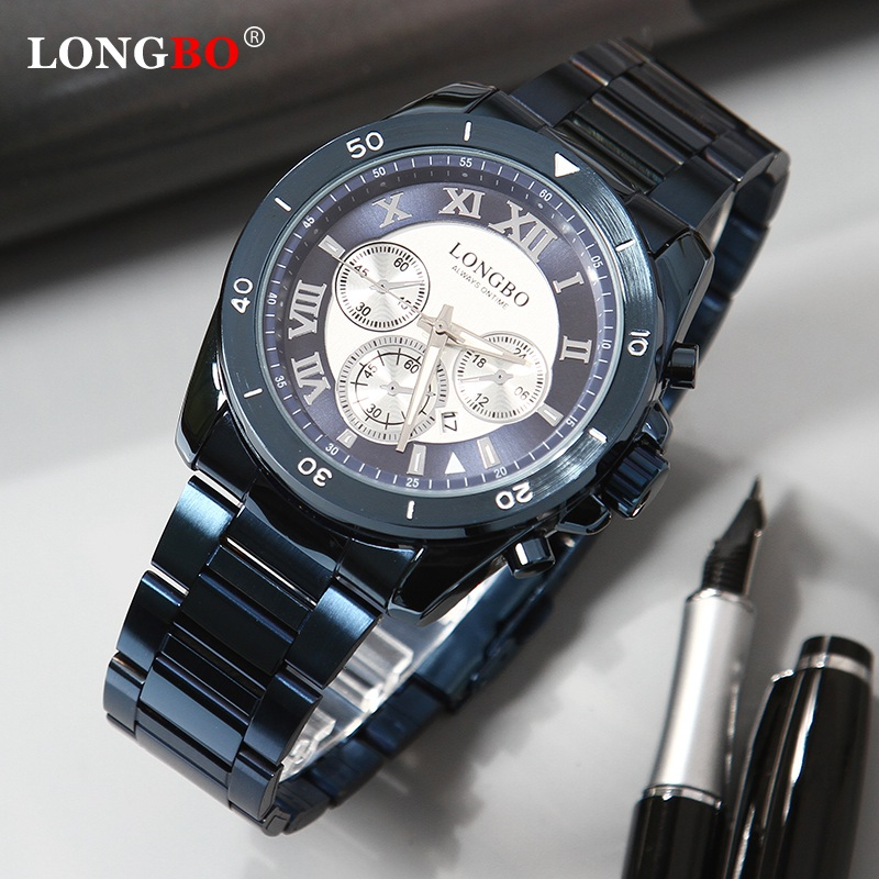 LONGBO 2020 Top Brand Luxury Men Watches Quartz Male Clock Design Sport Watch Waterproof Stainless Steel Wristwatch Reloj Hombre