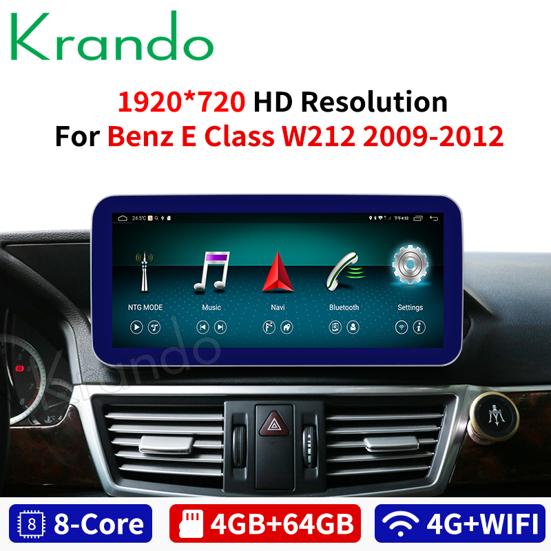 Krando <font><b>Android</b></font> 8.1 10.25'' car radio gps navigation for Mercedes <font><b>Benz</b></font> E Class <font><b>W212</b></font> E200 E230 E260 E300 S212 2009-2015 image