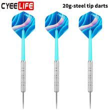 CyeeLife 3PCS Professional Darts Set Steel Tip Dart 20 grams with 2D Flights