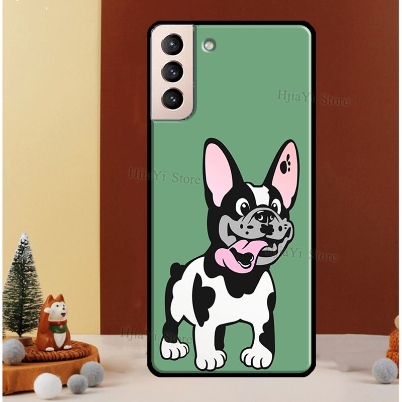French Bulldog Cute Dogs Case For Samsung Galaxy S10 S8 S9 Note 10 Plus Note 20 S10e S20 FE S21 Ultra Phone Cover