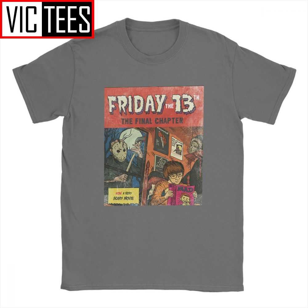 Friday The 13th Jason Voorheesผู้ชายTเสื้อภาพยนตร์สยองขวัญฮาโลวีนน่ากลัวศุกร์Freddyอารมณ์ขันTshirt