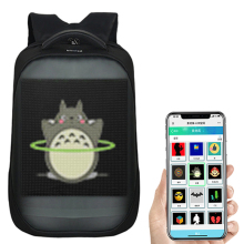 Новейшиe Wifi умный светодиодный рюкзак с светодиодный Экран дисплея рюкзак Водонепроницаемый для прогулок на открытом воздухе рекламы рюкзак светодиодный