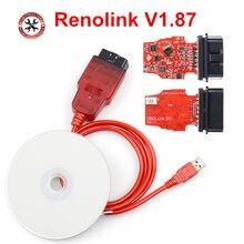 2020 Новый V1.87 Renolink OBD2 диагностический интерфейс для транспортных средств Renault/D-acia, программатор ECU, подушка безопасности/кодирование ключей, ...