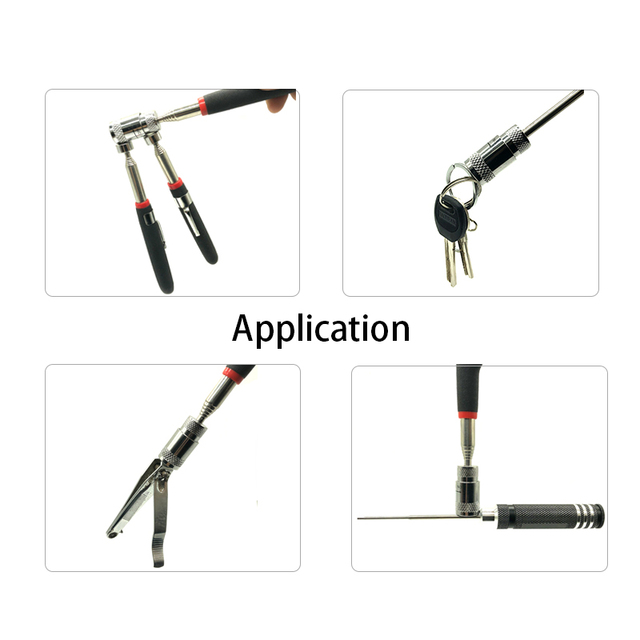 Mini portable telescopic magnetic suction rod portable tool capacity pickup nut bolt telescopic pickup rod 5
