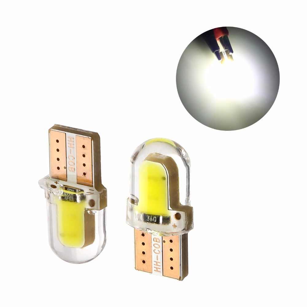 Bombilla LED W5W T10 194 168 W5W COB 8SMD, bombilla Led para estacionamiento, faro con borde de distancia de seguridad para automóvil, CANBUS brillante de sílice, bombillas blancas para licencia 10 Uds.