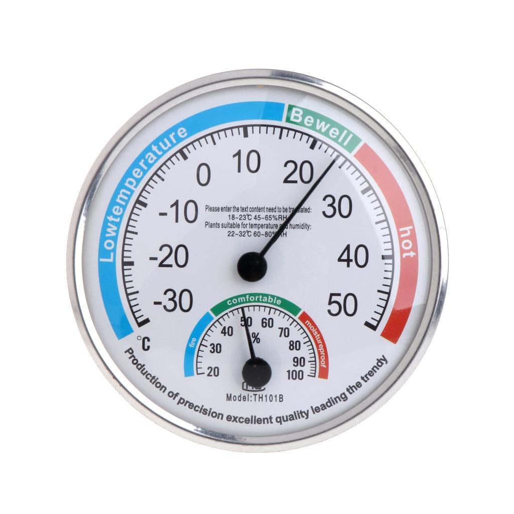 Termômetro e higrômetro analógico doméstico, monitor de temperatura e umidade medidor