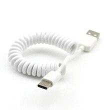 Tipo C Cavo del Caricatore del USB C di Sincronizzazione di Dati del Molla A Spirale Del Cellulare Adattatore del Connettore