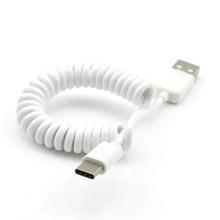 タイプcケーブル充電器usb cデータ同期春コイル状携帯電話コネクタアダプタ