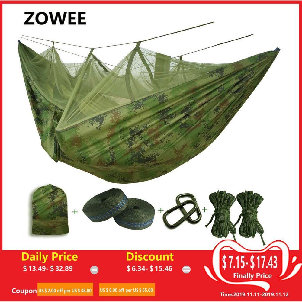 Ultralette myggenet faldskærmshængekøje med myggestik til udendørs campingtelt med sovende gratis forsendelse