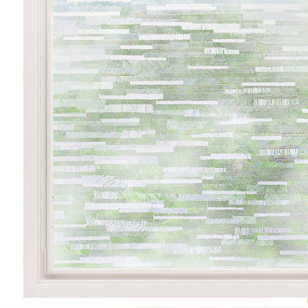 LUCKYYJ Window Vinyl Film Static Privacy Decoration Self Adhesive Film,for UV Blocking Heat Control Glass Window Stickers 1