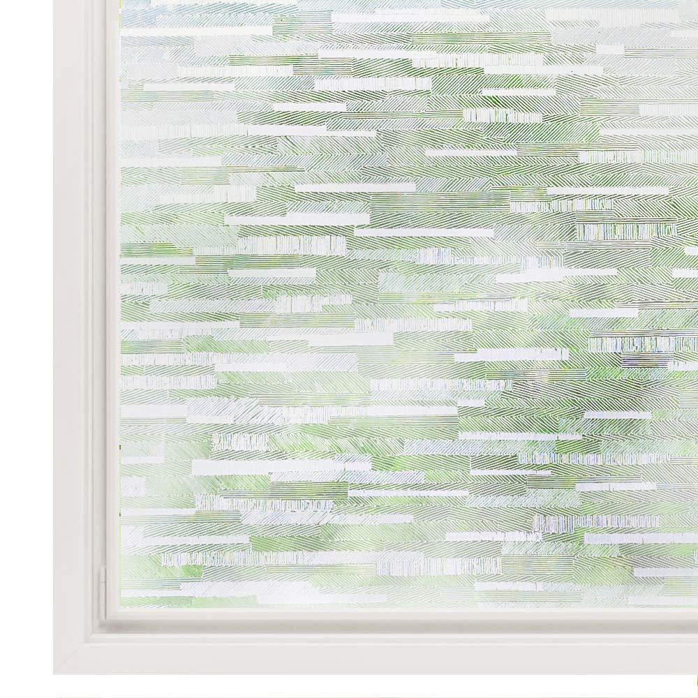 LUCKYYJ Window Vinyl Film Static Privacy Decoration Self Adhesive Film,for UV Blocking Heat Control Glass Window Stickers