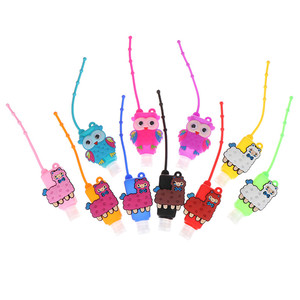 Image 2 - 30ML Embossed Cartoon Owl Shape Silicone Mini Hand Sanitizer Disposable No Clean Detachable Cover Travel Portable Safe Gel