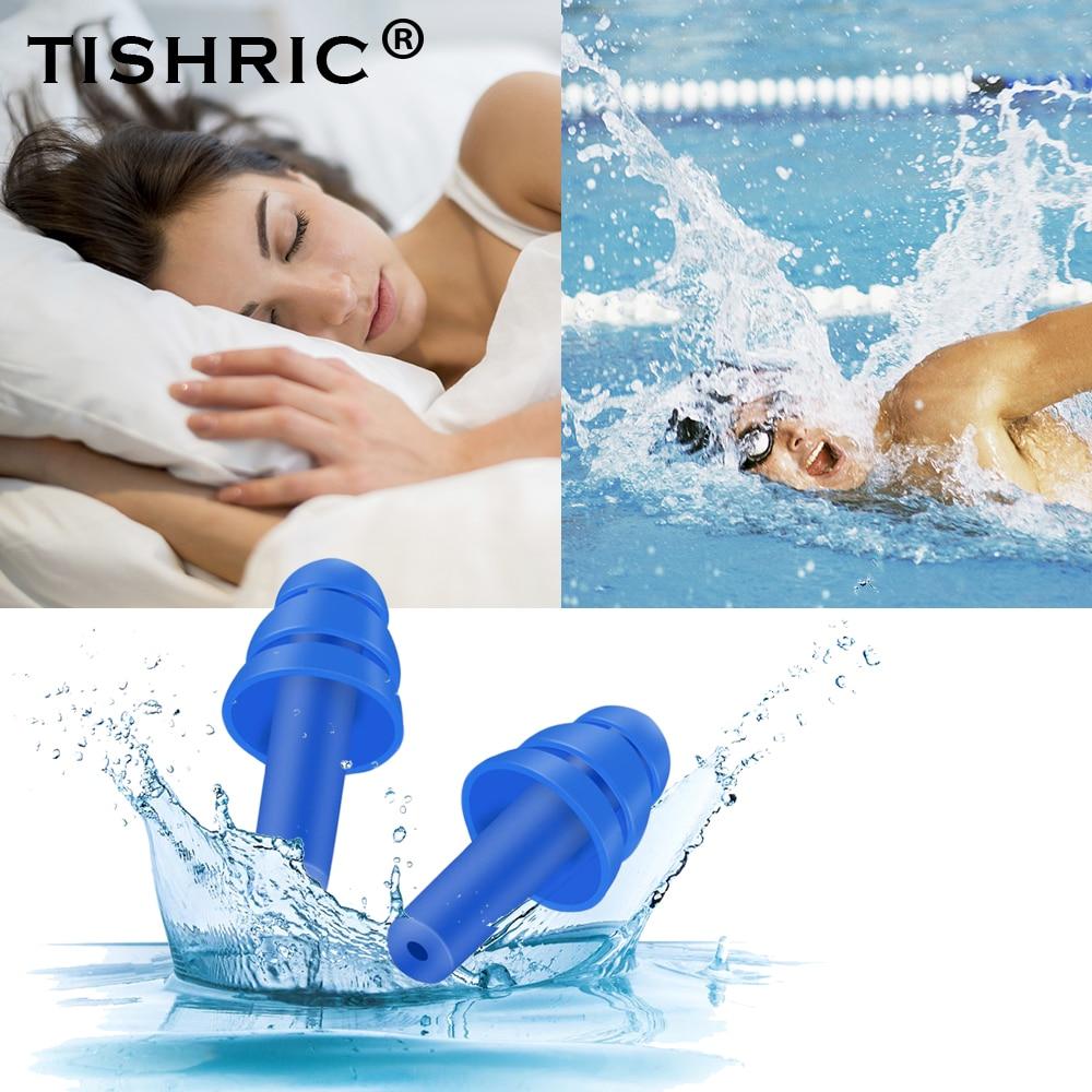 Tishric 1 par tampões de ouvido dormir noice redução cancelamento de ruído anti-ruído silicone tampões de ouvido para viagens/sono/natação