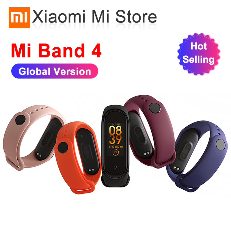 In Stock Original Newest Xiaomi Mi Band 4 Bracelet Heart Rate Fitness Bluetooth 5.0 Color Screen 135mAh 50M Swimming Waterproof image