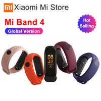 In Stock Original Newest Xiaomi Mi Band 4 Bracelet Heart Rate Fitness Bluetooth 5.0 Color Screen 135mAh 50M Swimming Waterproof