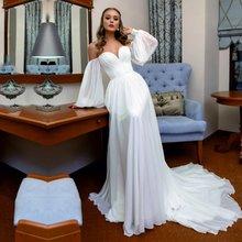 Пляжные свадебные платья Милая бохо платье принцессы Свадебная