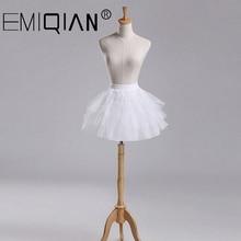 Для маленьких девочек, нижние юбки, 3-слойные, короткие, вечернее платье для девочки с цветочным принтом кринолин для свадебных церемоний детское стрейчевая Нижняя юбка