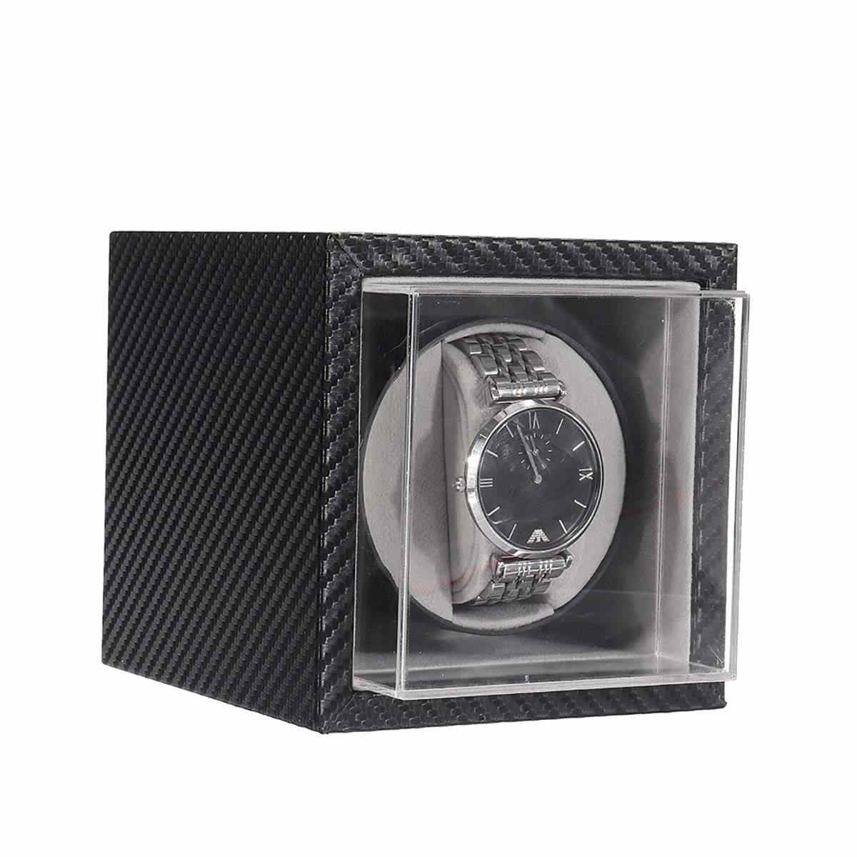 Automatic Watch Winder Mute Motor Shaker Carbon Fiber Watches Box Jewelry Display Storage Case Organizer Watches Accessories