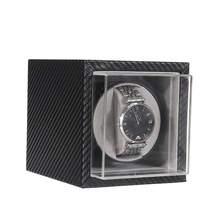 Automatische Uhr Wickler Stumm Motor Shaker Carbon Faser Uhren Box Schmuck Display Speicher Fall Veranstalter Uhren Zubehör cheap Cymii CN (Herkunft) 12cm Automatik Uhr SKUC73736 MDF + Carbon Fiber PU Neu ohne Etiketten 899g 14 7cm