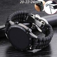 20 22Mm Riem Voor Samsung Galaxy Horloge 3 41Mm 45Mm Horloge Band 42Mm 46Mm Voor huawei Horloge Gt 2e Verstelbare Gesp Touw Armband