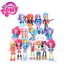 12cm 9pcs 7pcs Meus Brinquedos Little Pony Friendship Is Magic Pony Figura Set Twilight Sparkle Rainbow Dash fluttershy Boneca Bonecas Modelo(China)