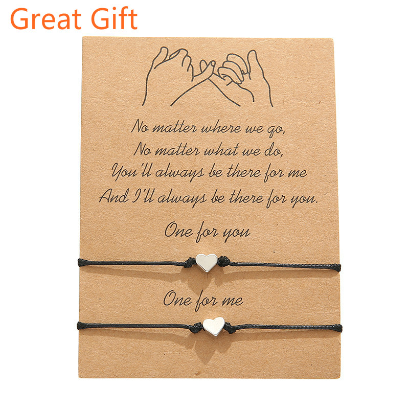 Promise Bracelets for Couples Best Friend Long Distance Relationship Matching Friendship Bracelets Adjustable Gift for Men Women(China)