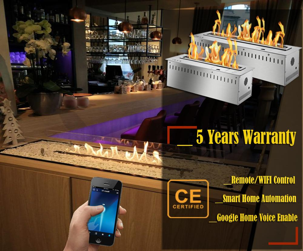 Inno Living Fire 30 Inch Indoor Luxury Alcohol Fireplace Bio Ethanol Burner Insert With Wifi Control