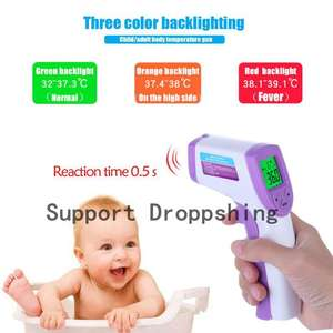 LCD Baby Forhead Thermometer Portable Handheld Digital Temperature Meter Gun Non Contact IR Infrared Baby Body Thermometer Tool
