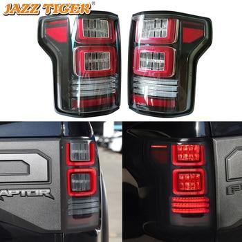 Car LED Tail Light Taillight For Ford F-150 F150 svt raptor 2015 - 2019 Rear Running Lamp + Brake Light + Reverse + Turn Signal