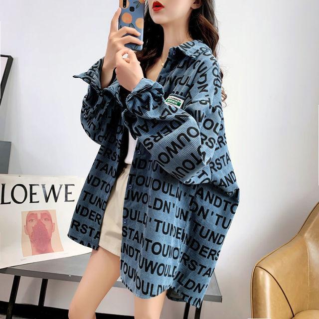 Ay1122 2020 spring summer autumn new women fashion casual ladies work Blouse woman overshirt female OL plus size clothing 2