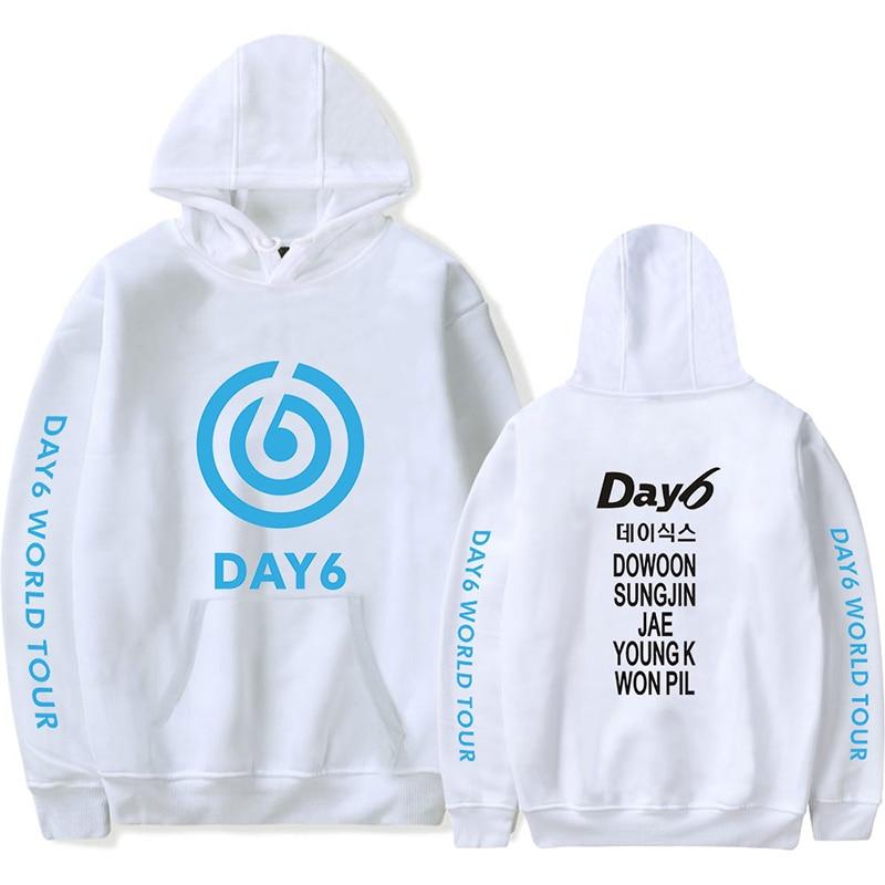 Fashion Print Kpop DAY6 World Tour GRAVITY Hoodies Sweatshirt Men Women Hooded Pullover Long Sleeve Casual Hoodie Hoody Tops 4XL