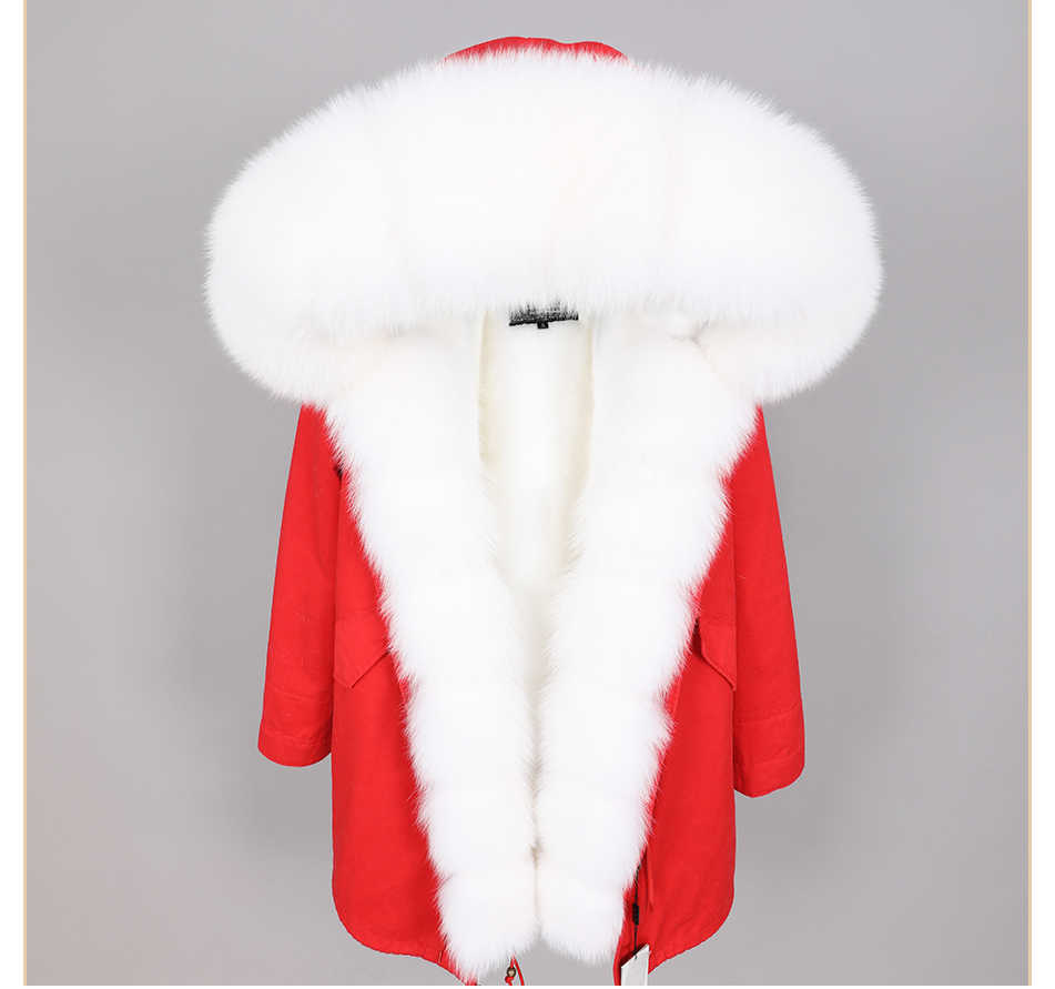 2019 frauen kleidung winter warme streetwear Schlank fuchs pelz kragen lange parka Abnehmbare dicken liner Mantel winter echtpelz mantel
