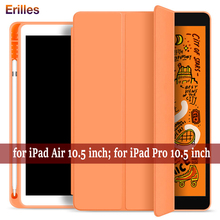 Hide Pencil Holder Case For iPad AIR 3 10.5 2019 PU Leather Smart Cover for Pro Auto Wake Protective Shell A2153 A2123