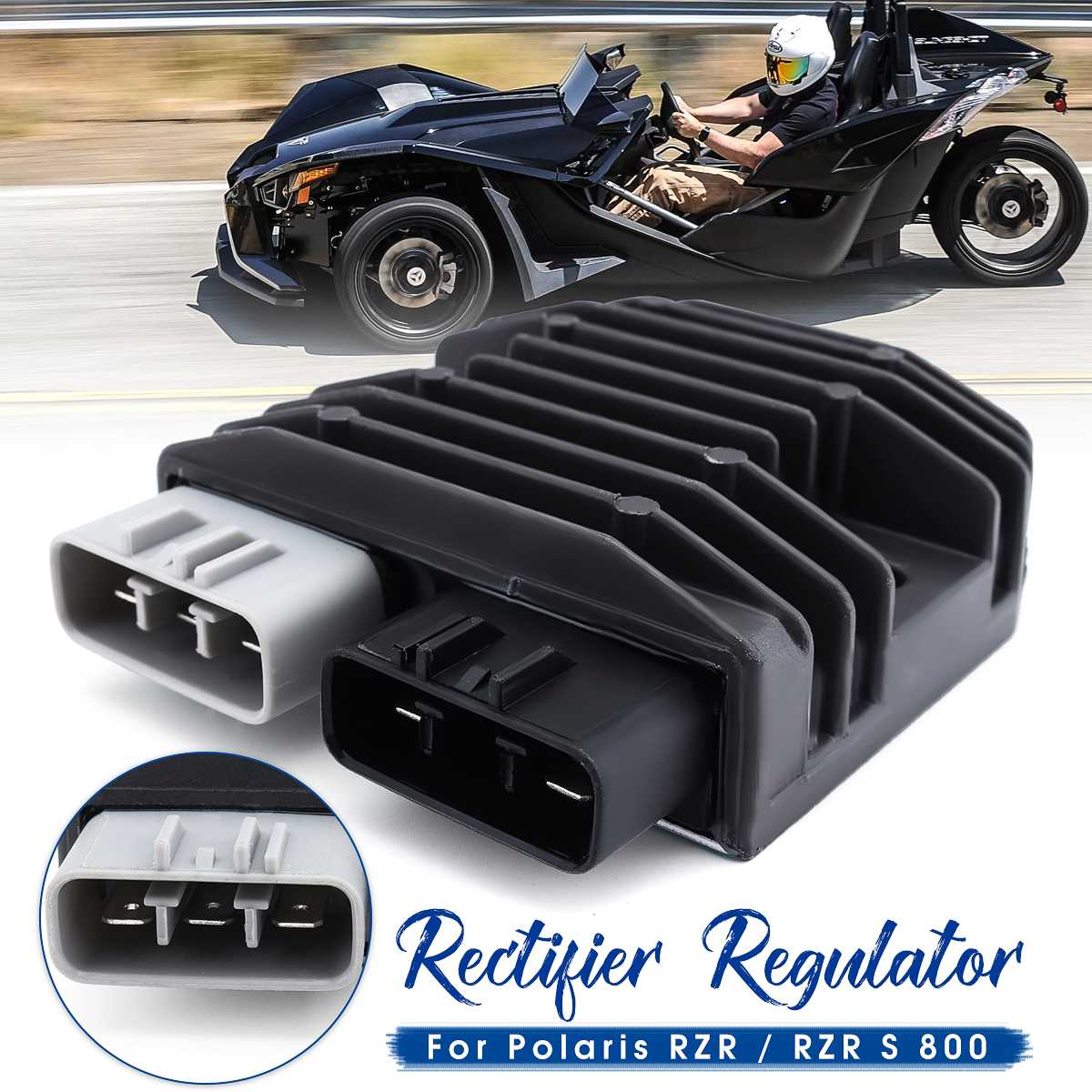 Voltage Regulator Rectifier For 760cc For Polaris 2011 2012 2013 2014 RZR/RZR S <font><b>800</b></font> <font><b>UTV</b></font> ATV Motorcycle Parts Motorcycle Ignition image