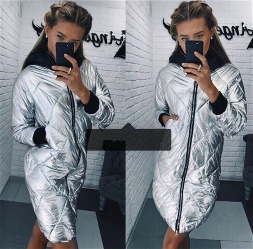 2019 Winter New Style Metal Color Cotton Coat Supply Of Goods AliExpress