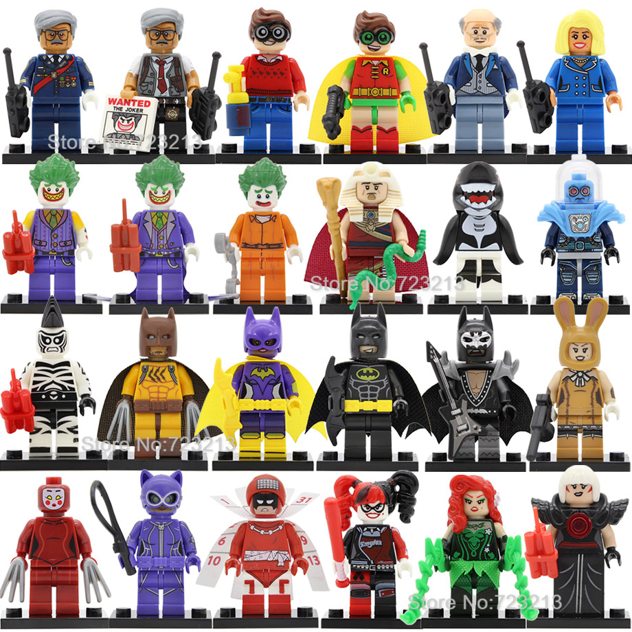 Single DC Batman Super Hero Figure Joker Harle Quinn Robin Orca Mr Freeze Calendar Zebra Building Blocks Bricks Toys Legoing