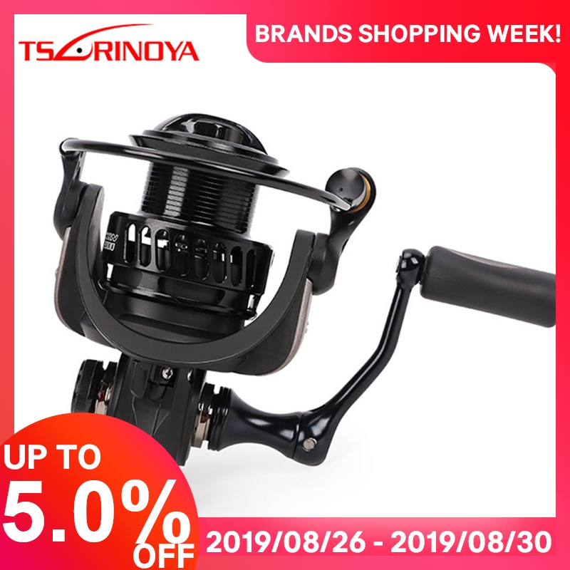 TSURINOYA Fishing-Reel Drag-Power Saltwater FALCON2000 Long 3000 1BB 8 7kg Spinning
