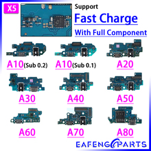 5 sztuk/partia złącze dokujące Micro USB A30F A20F ładowarka Port Flex Cable mikrofon A105FN pokładzie ładowania dla Samsung A50 A40 A705FN