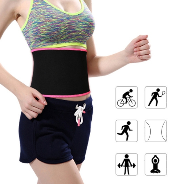 Waist Trimmer Belt Weight Loss Sweat Band Wrap Fat Tummy Stomach Sauna Sweat Belt Sport Belt v