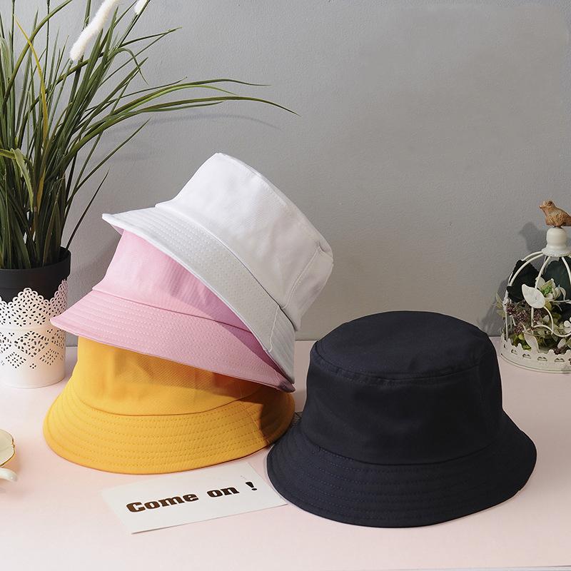 New Cotton Black White Bucket Hat Women Sun Hats For Kids Hip Hop Outdoor Trip Caps Men Beach Sun Protect Fishing Unisex Bonnet