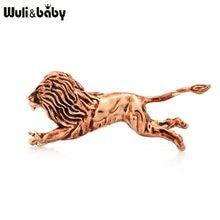 Wuli & ベビーランニングライオンブローチ女性合金ライオン動物カジュアルパーティーブローチピンギフト